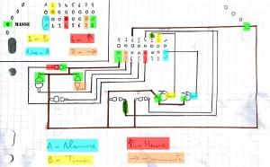Cablage du circuit de la manette
